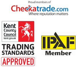 Gutter cleaning accreditations, checktrade, Trusted Trader, IPAF in Dartford